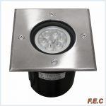 چراغ دفنی توکار مربع سرپیچ GU10 برش ۱۰ سانتیمتر / ۱۴SQ