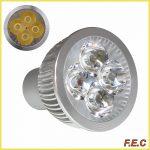 لامپ ال ای دی هالوژن پایه استارتی (GU10)